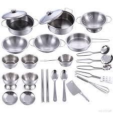 ustensiles de cuisine pour enfant playset métalliques casseroles et poêles ustensiles de cuisine pour
