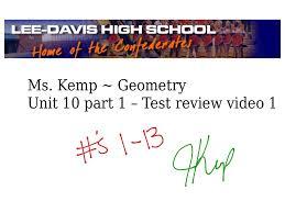 geometry unit 10 part 1 test review 1 13 1415 math geometry