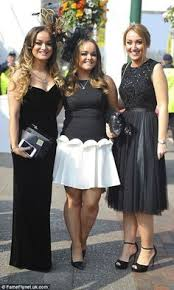 ladies arrive for the first day of racing at aintree classy lady