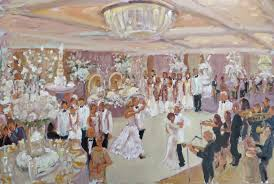 Painting Of Chandelier Weddings