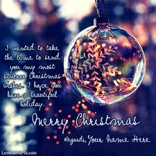 write any name on beautiful merry greeting cards image and
