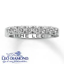 leo engagement rings jared leo ring 3 4 cttw anniversary band 18k white gold