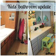 kids u0027 bathroom update life rearranged