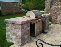 Backyard Brick Patio Design With Grill Station Seating Wall And by Best 25 Patio Grill Ideas On Pinterest Grill Station Outdoor