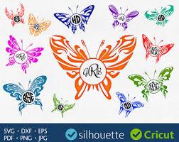butterfly monogram etsy