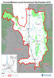 The Shire Map Cooma Monaro Shire Council By Election 19 June 2010 Nsw