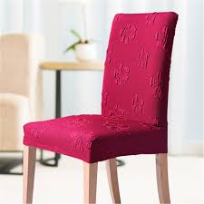 dining chair covers favorable elastic polyeser thick dining chair cover solid color
