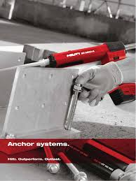 hilti anchors systems structural steel