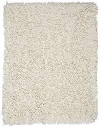 white wool shag rug at rug studio
