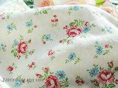 Fabric Shabby Chic by Floral Cotton Fabric Embroidered Shabby Chic Fabric Pink Blue