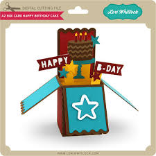 a2 box card happy birthday cake lori whitlock u0027s svg shop