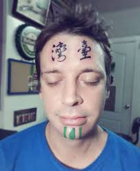 british expat gets u0027taiwan u0027 tattooed on his face while drunk