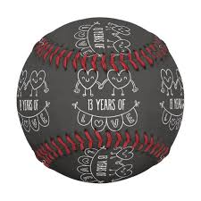 13th anniversary gift 13th anniversary gift chalk hearts baseball zazzle