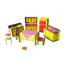 built rite miniature dollhouse kitchen furniture set no 49