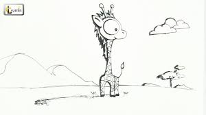 art for kids how to draw a giraffe drawing for children easy