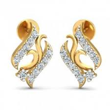 stylish gold earrings earrings gold with diamond stud earrings online shopping india
