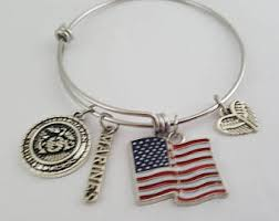 marine jewelry usmc jewelry etsy