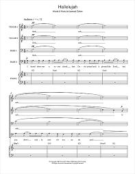 hallelujah sheet by leonard cohen ttbb 100010