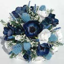 blue wedding bouquets silk wedding flowers artificial wedding flowers bridal bouquets