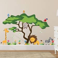 amazon com timber artbox cute animals in the jungle wall decals amazon com timber artbox cute animals in the jungle wall decals giant bright stickers to put a smile on kids toddlers office products