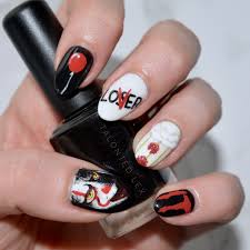 we all float it nail art inspired by u0027it u0027 2017 painted nail