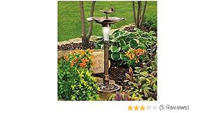 wilson and fisher solar lighted bird bath amazon com solar lighted bird bath with frog garden outdoor