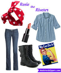 rosie the riveter costume 5 smarty costumes the shattered glass slipper
