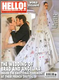Wedding Dress Korean Movie Angelina Jolie In Versace Wedding Dress With Brad Pitt In First