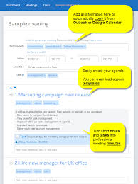 screen shot meeting agenda template layout
