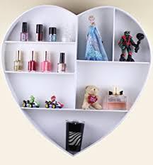 heart shaped shelf display unit shabby chic wall hanging white