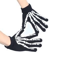 Skeleton For Halloween by 2017 Devil Skull Gloves Unisex Winter Black Elastic Design Scary
