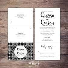 send and seal wedding invitations printable classic black and white seal and send wedding invite