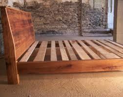 wood bed frame etsy