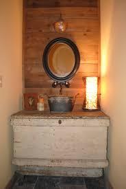 small rustic bathroom ideas stone sink rustic vanity in