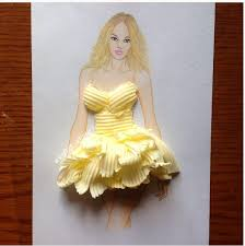 design dresses this fashion designer turns food into dresses you cant stop staring at