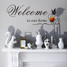 Welcome Home Decor Online Get Cheap Wall Sticker Quotes Entrance Aliexpress Com