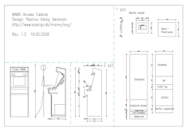 arcade cabinet plans pdf mame cabinet build plans www cintronbeveragegroup com