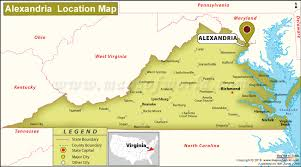 virginia on a map of the usa where is alexandria located in virginia usa