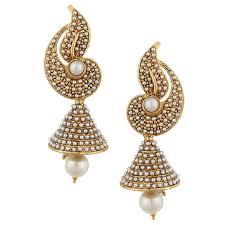 jhumki earring buy white flower indian pearl jhumka earring jhumki online