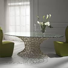 tavoli di cristallo sala da pranzo tavolo con piano in vetro mondrian di cantori arredaclick
