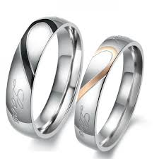 couple promise rings images Titanium steel promise ring for couples with words love token jpg
