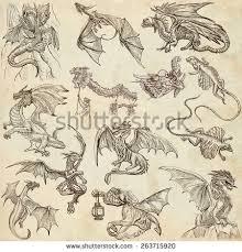 dragon sketch stock images royalty free images u0026 vectors