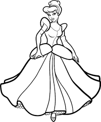 coloring sheets disney princess cinderella printable for disney