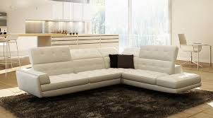 Italian Sofa Beds Modern by Casa Olympus Modern White Italian Leather Sectional Sofa
