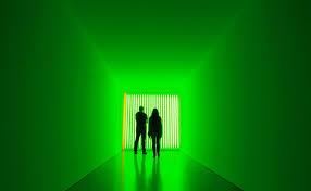 green neon lights news updates at daily news analysis