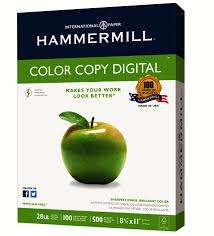hammermill color copy paper 8 12 x 11 28 lb ream of 500 sheets by