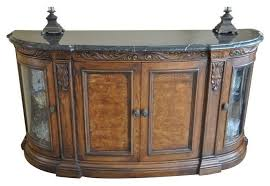 traditional buffet henredon buffet with marble top glass doors traditional