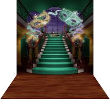 green mardi gras mardi gras staircase photo backdrops and backgrounds