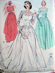 vintage wedding dress patterns lovely fifites wedding gown bridal dress pattern butterick