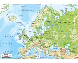 Physiographic Map Of The United States by Maps Of Europe And European Countries Political Maps Road And